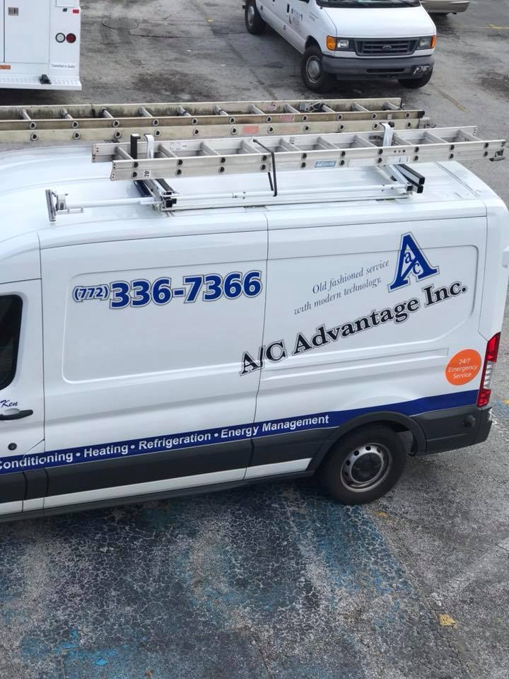 image of the ac advantage work van