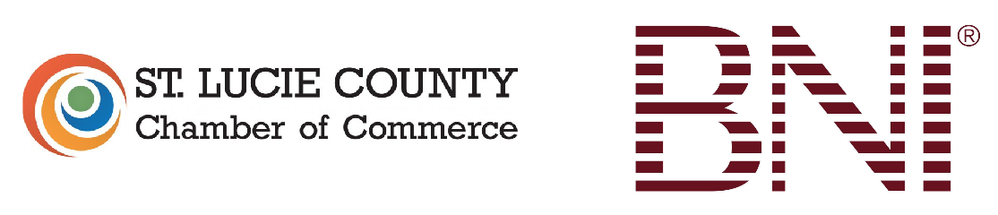 logos for bni and st lucie county chamber of commerce