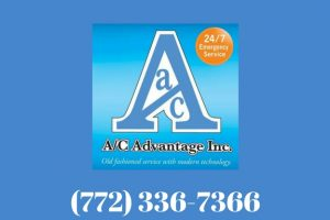 Logo and phone number of ac advantage 772 336 7366